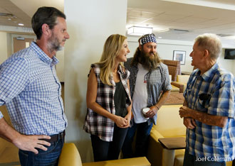 'Duck Dynasty' films on Liberty University campus.