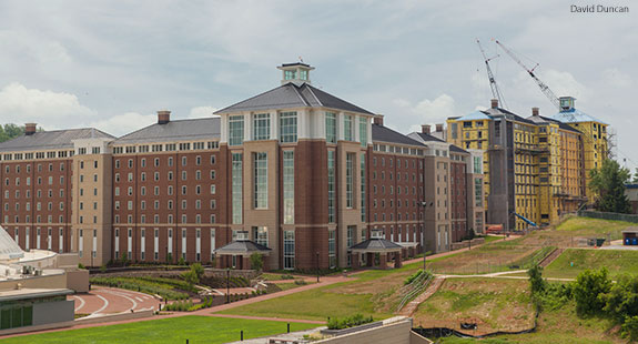 Liberty University's Residential Commons I and forthcoming Residential Commons II.