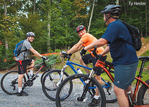 Public can enjoy biking on Liberty Mountain Trails during the summer months.