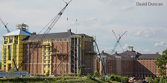 Liberty University's new high rise residence halls.