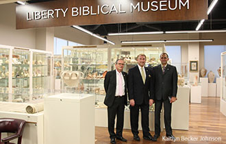 Israeli diplomats visit the Liberty Biblical Museum.