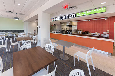 Garbanzo, located in the Montview Student Union, will offer students a variety of Mediterranean food. (Photo by Kaitlyn Becker Johnson)