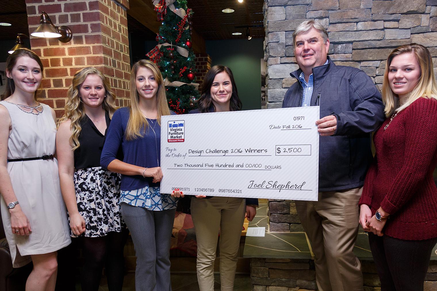 Virginia Furniture Market Owner Joel Shepherd Presents A $2,500 Award To Interior  Design Students (from