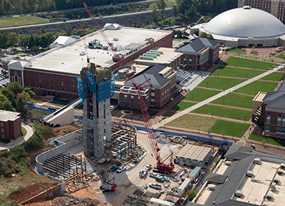 The new home of the Rawlings School of Divinity, Freedom Tower, is currently under construction with a tentative opening of January 2018.