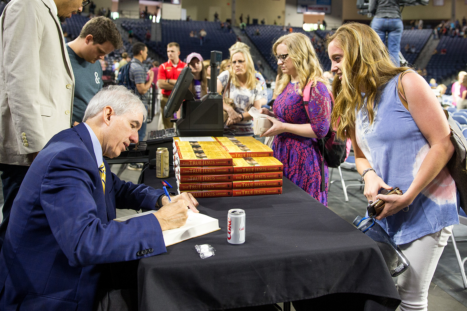 David Limbaugh signed copies of his book, 'The True Jesus,' after Convocation.