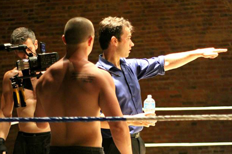 Sheik gives direction on the set of 'Worth Fighting For.' (Photo by Aubrey Wright)