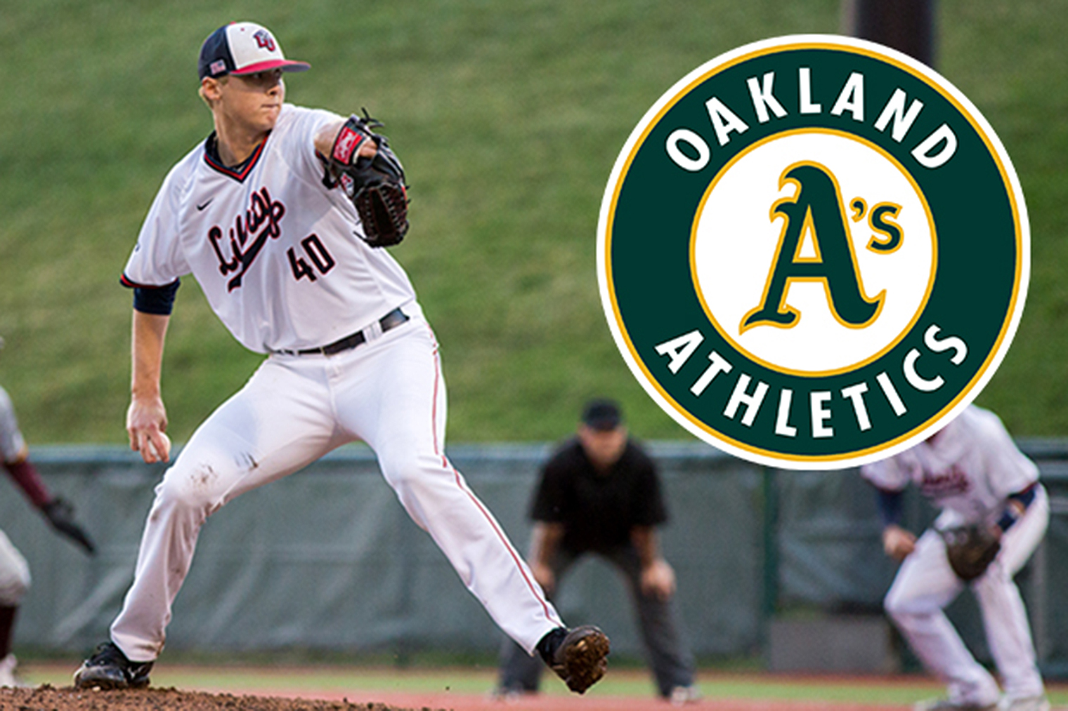 Oakland University Campus Map >> Flames pitcher Evans picked by Oakland A's in Major League Baseball Draft | Liberty University