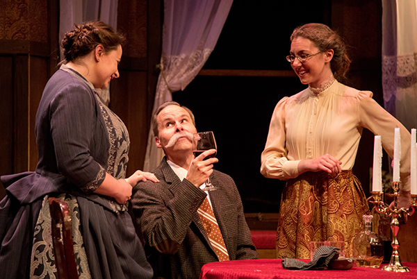 Murder farce arsenic and old lace opens in box theater for Broadly farcical