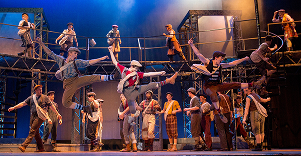 'Newsies' show times: Sept. 15, 16, 21, 22, 23, 28, 29, 30 at 7:30 p.m.; Sept. 16, 23, 30 at 2 p.m.; Sept.17, 24, Oct. 1 at 3 p.m. Click image for ticket information or call (434) 582-SEAT (7328) during weekday business hours. (Photo by Leah Seavers)
