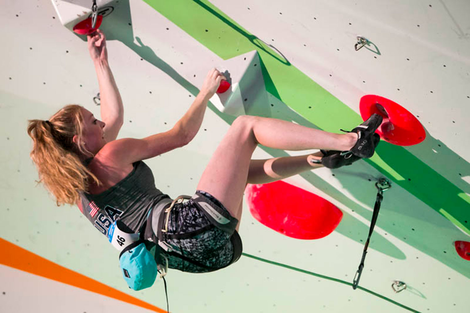 Tori Perkins represented Liberty University in the women's sport climbing finals at Saturday's World University Championships in Bratislava, Slovakia.