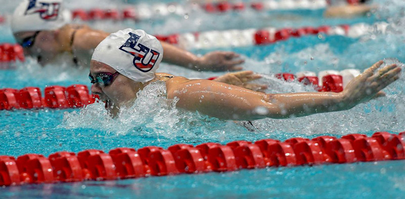 Liberty junior Alicia Finnigan placed 31st in the 200 butterfly and 50th in the 100 fly at last year's NCAA Division I Championships.