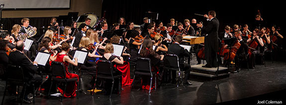 Liberty University's chamber orchestra performs on Oct. 28, 2014.