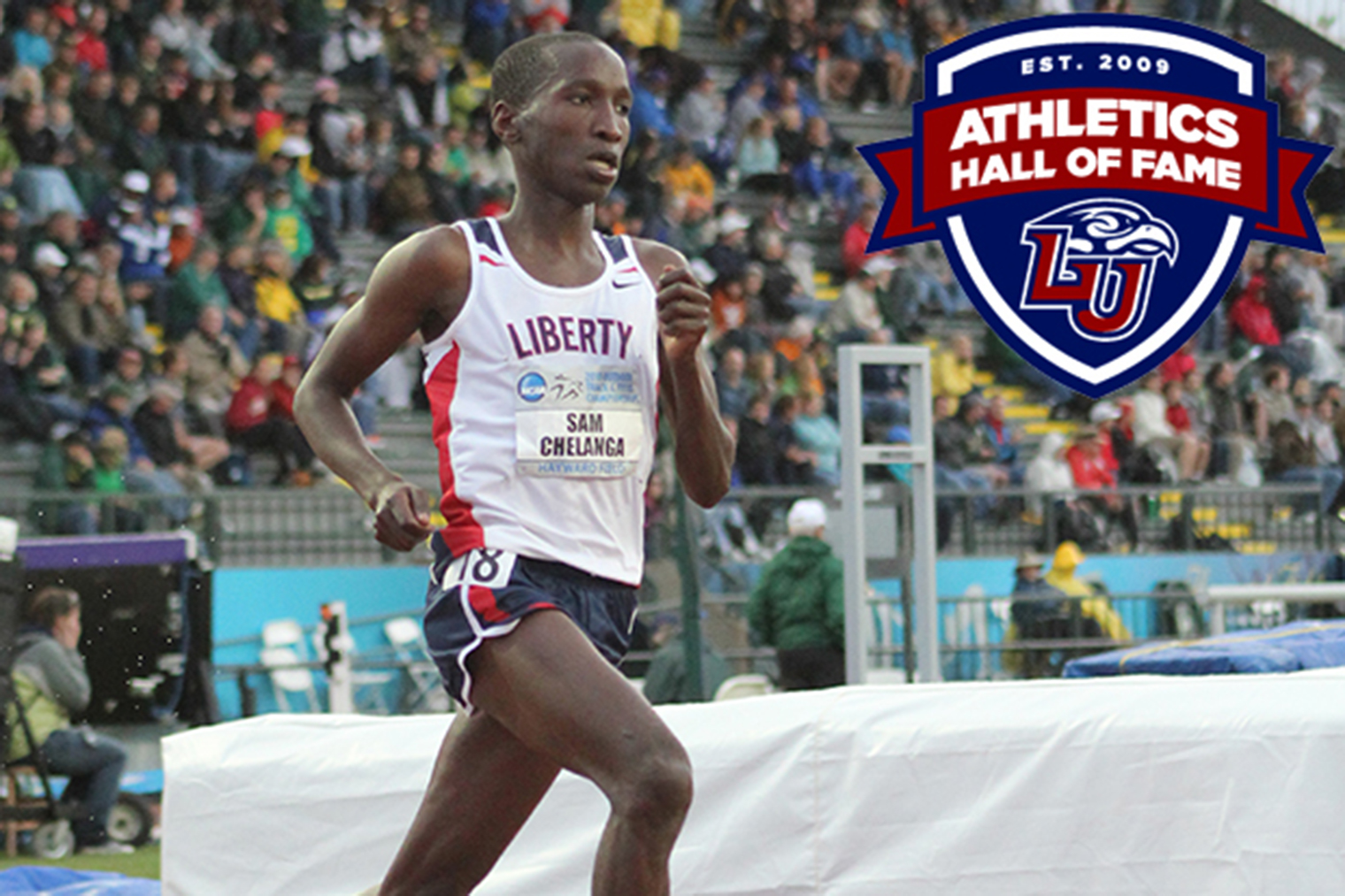 Sam Chelanga ranks among Liberty University's most successful NCAA DI student-athletes as a four-time national champion.