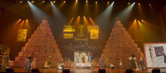 The 'Holiday Hoedown' number involves the work of several Liberty students. - Students Join 40th Year Of TRBC Christmas Show Liberty University