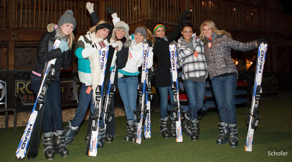 Miss USA and Miss Teen USA contests visit Snowflex at Liberty.