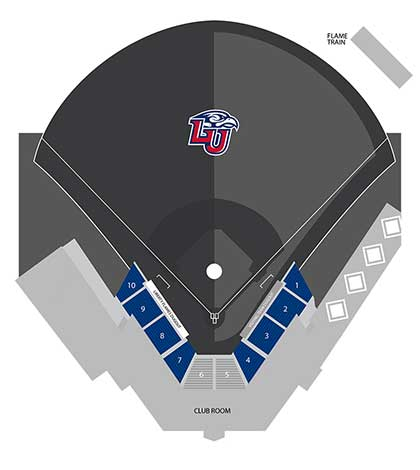 Baseball General Admission Seating Map