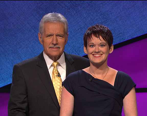 Alex Trebek with Catherine Hardee