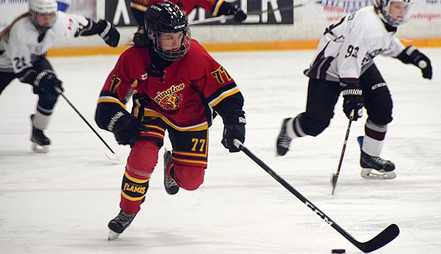 Junior forward Abbey Mills was the leading scorer for the Clarington (Ontario) Flames' Midget AA team last season. test test test test