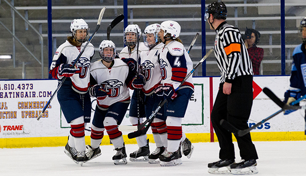 Lady Flames Ride Second Line Scoring To Sweep Rhode Island
