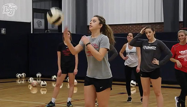 Liberty beach volleyball players have practiced indoors throughout the winter as well as leading youth clinics at Timberlake Christian School. test test test test