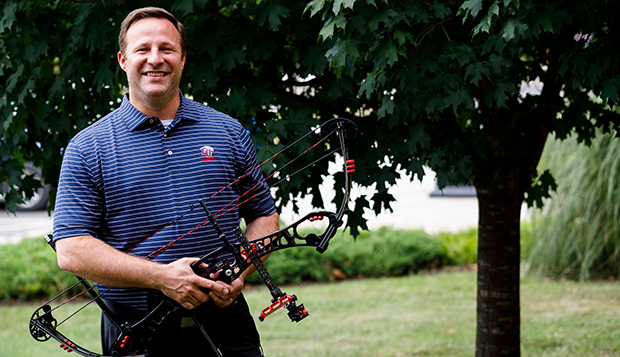 New Liberty men's and women's archery Head Coach Ben Summers has served as chairman of the Archery Trade Association since 2016. (Photo by Andrew Snyder) test test test test