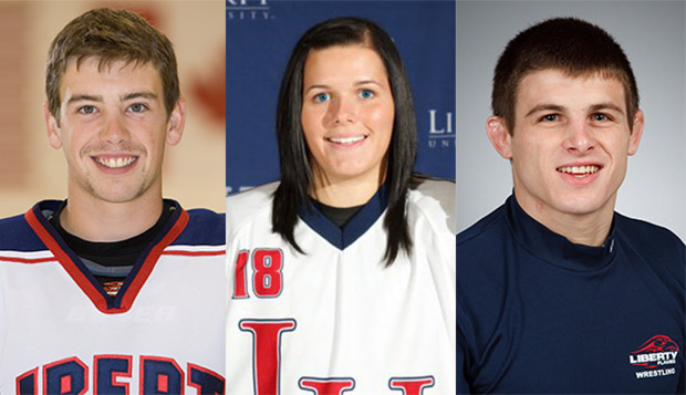 Kyle Dodgson (left), Kristin Frescura, and Scott Clymer comprise the Club Sports Hall of Fame's first all-athlete class of inductees. test test test test
