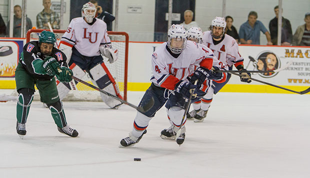Liberty split two one-goal games with Ohio in late October in the LaHaye Ice Center, but the Bobcats won the third meeting decisively in Saturday night's second round of the ACHA DI national tournament in Chicago.  test test test test