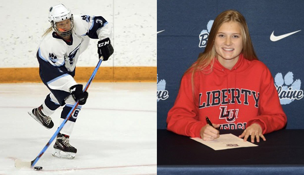 Brityn Fussy, the top returning scorer at Blaine (Minn.) High School, signed with Liberty after an official visit late last month.  test test test test