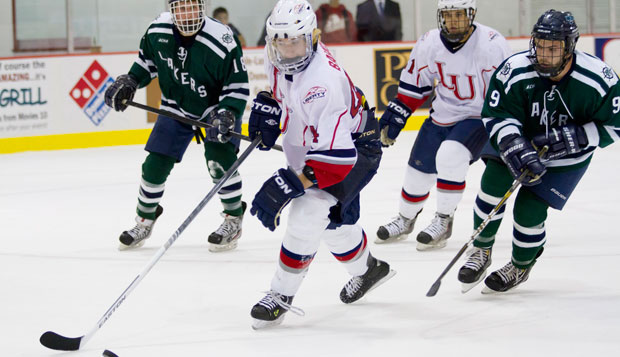 The Flames attack was too much for Mercyhurst this weekend. Liberty scored 13 times and held the Lakers to just a pair in the two game series. test test test test