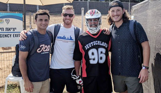 Brett Bernardo (from left), Mike Zumpano, Lukas Tophoven, and Eli Britton represented Liberty at the FIL World Championships. test test test test