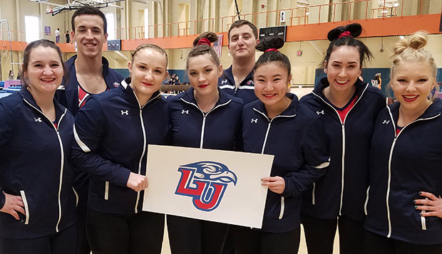 Liberty's travel team gymnasts competed in their first meet Saturday at Clemson. (Submitted Photo) test test test test