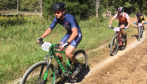 Harrison Mohl, a transfer from North Carolina competing in his first mountain bike races, placed fifth in Saturday's short-course event and sixth in Sunday's cross country race in Category C. test test test test