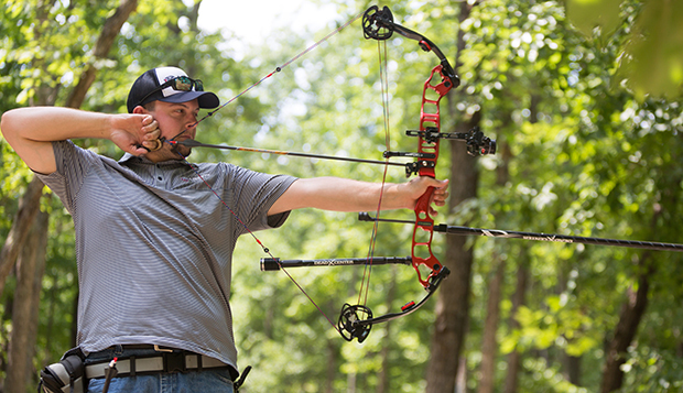 Ian Rigney is the most decorated archer in Flames program history with three 3D outdoor and one indoor national title in his quiver. (Photo by Kaitlyn Becker Johnson) test test test test