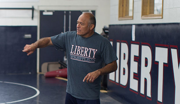 Liberty Head Coach Jesse Castro has a bevy of talented newcomers and returnees who will be training in the Wiseman Wrestling Room this fall.  test test test test