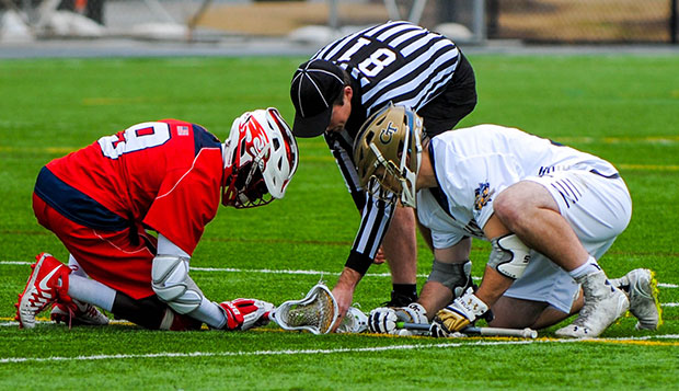 Liberty senior Charles Fianko won 13 of 22 faceoffs against Georgia Tech, but it wasn't enough to spark the Flames' attack until the fourth quarter. test test test test