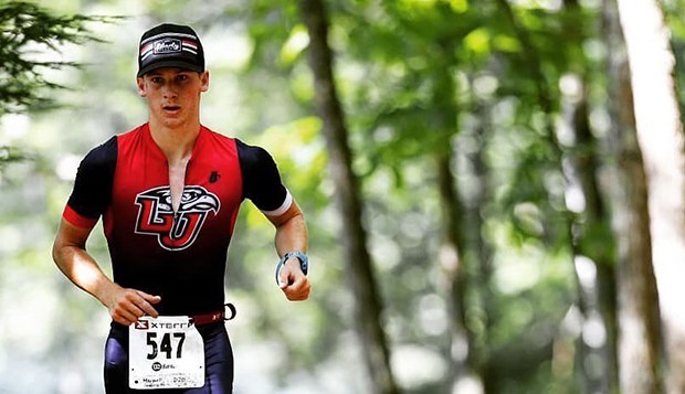 Max Galbraith competes in one of two trail running legs of the July 14 XTerra Duathlon. (Photos courtesy of EX2 Adventures).  test test test test