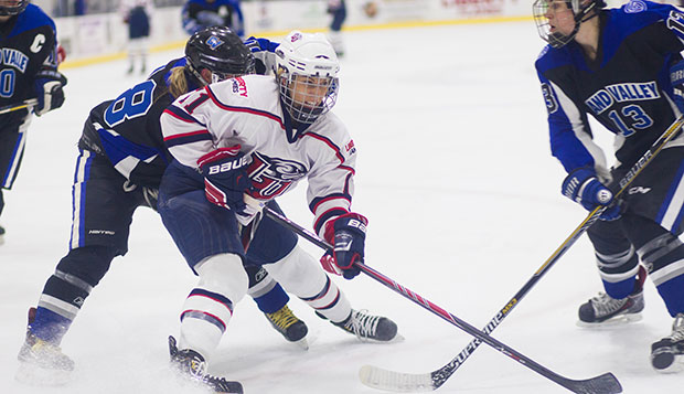 Lady Flames forward Sarah Stevenson ranked fifth in ACHA Division I with 49 points (16 goals, 33 assists) last season.  test test test test