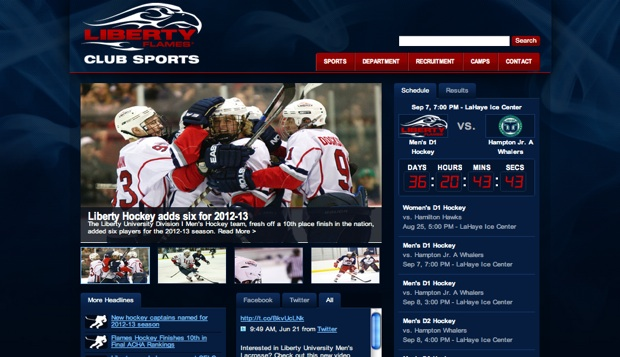 Club Sports debuts new website test test test test