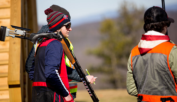 The Flames invited JMU to a friendly competition on Feb. 3 at the Liberty Mountain Gun Club. (Photo by Nathan Spencer) test test test test