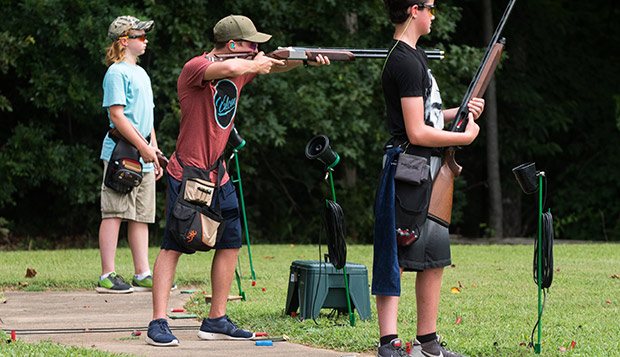 Participants compete in a Virginia Commonwealth Games shooting competition in nearby Amherst County over Main Games Weekend in July. (Photo by Kaitlyn Becker Johnson) test test test test