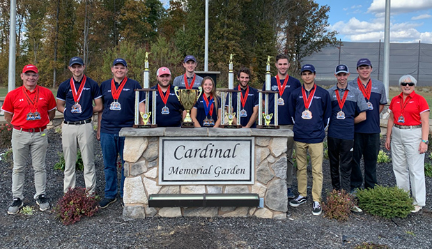 Liberty shotgun team Head Coach Dave Hartman (from left), junior James Bushnell, freshman Austin Applegarth, sophomore Jon Britton, senior Landon Dalton, freshman Victoria Hendrix, freshman Elijah LaBrozzi,