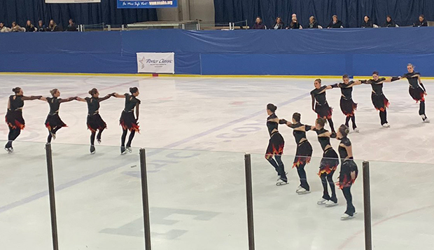 Liberty's synchronized skating team performs its 'Hunger Games' themed routine at Saturday's Dr. Porter Classic. test test test test