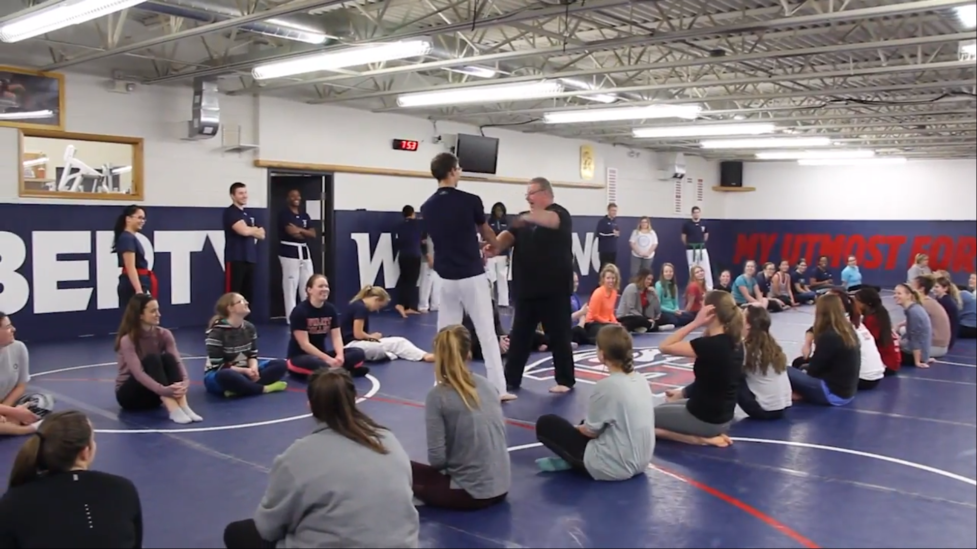 Liberty taekwondo Head Coach Tom Childress has offered self-defense seminars each semester for the past five years. test test test test