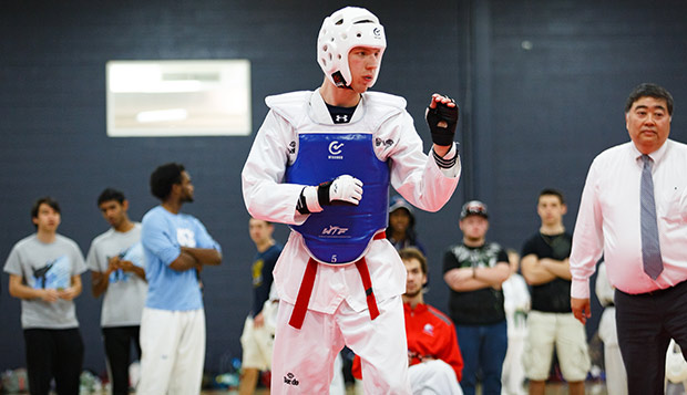 Junior Thomas Siff was promoted to brown belt over the summer after capturing a red belt national title in San Diego. (Photo by Caroline Cummings) test test test test
