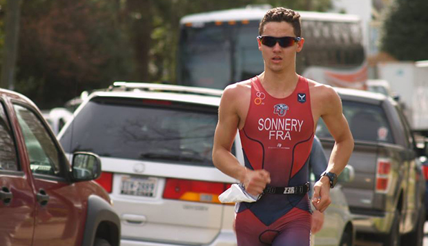 Thomas Sonnery-Cottet ran the third-fastest 5K time following his second-fastest swim and cycling splits to place first overall in 45 minutes, 41 seconds. (Photos courtesy of Lisa Schott)  test test test test
