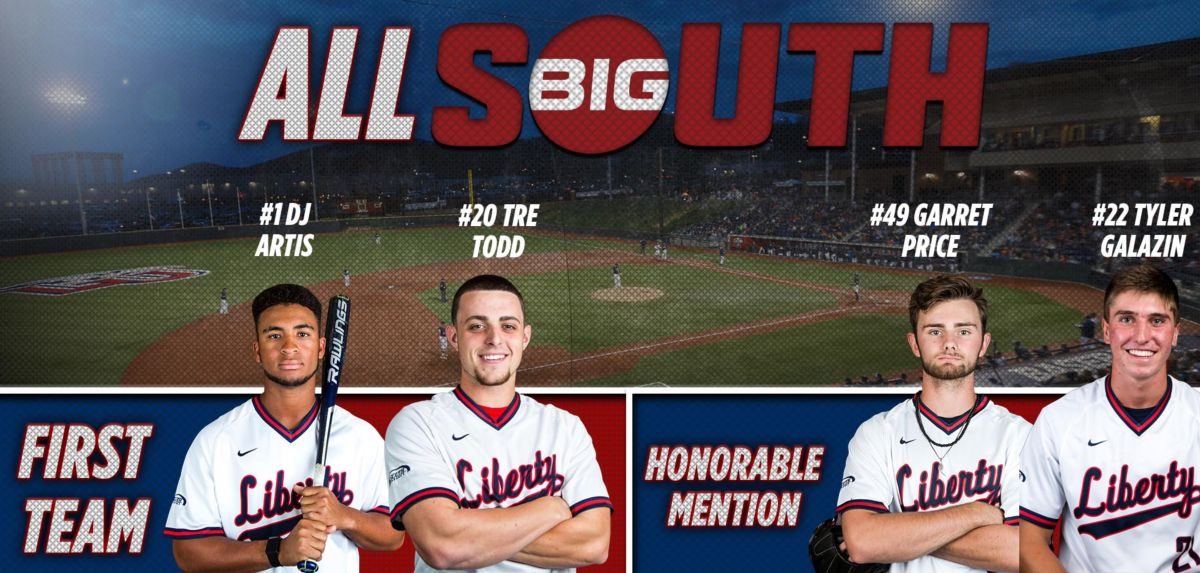Four Flames Named to Big South All-Conference Team