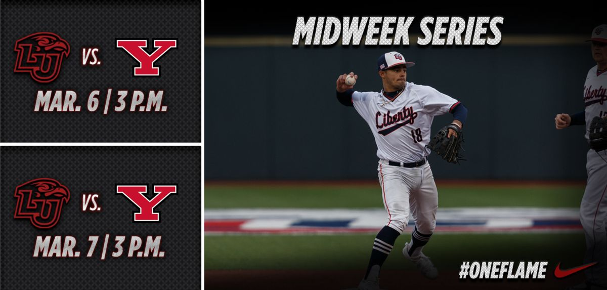 Liberty to Host Youngstown State on the Diamond, Tuesday and Wednesday