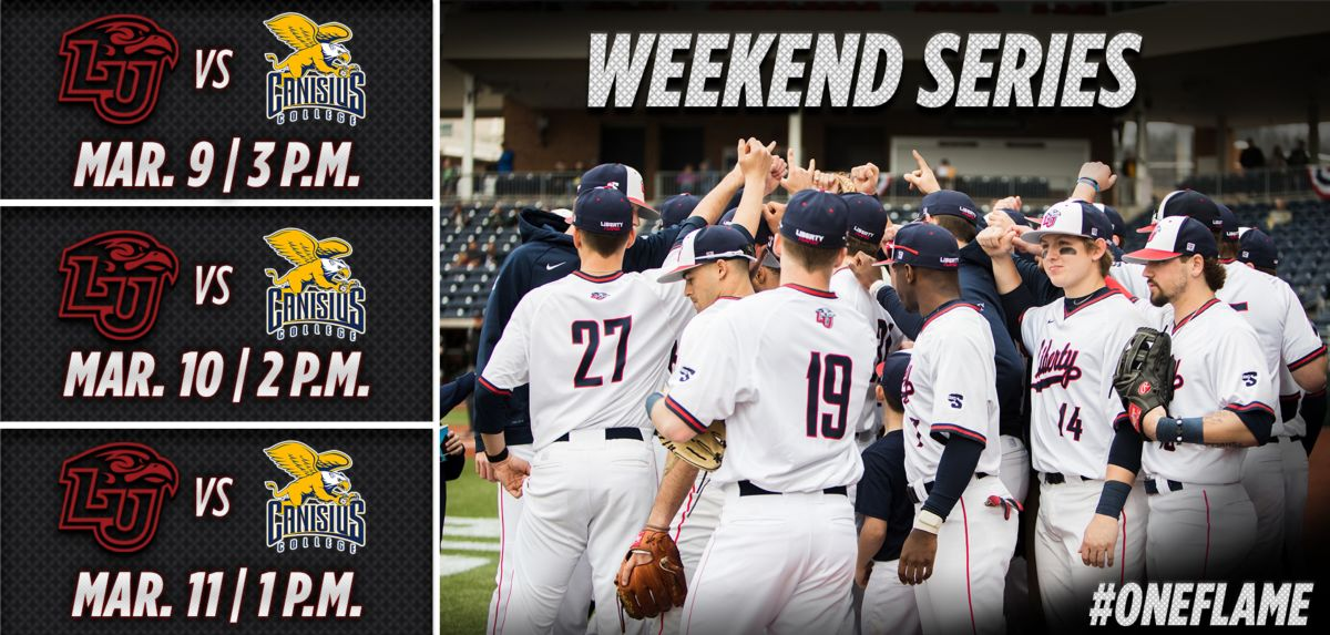 Liberty Welcomes Canisius for 3-Game Series, this Weekend