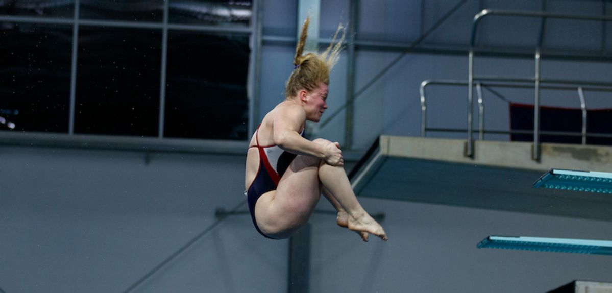 Olivia Robinson finished 15th on platform diving at the NCAA Zone A Championships.