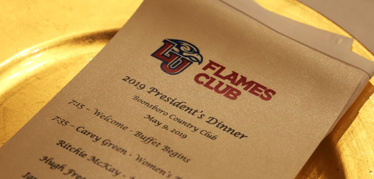 Flames Club Hosts President's Dinner